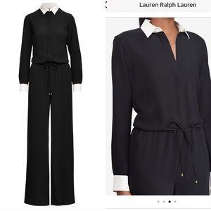 Lauren Ralph Lauren Layered-Look-Wideleg Jumpsuit
